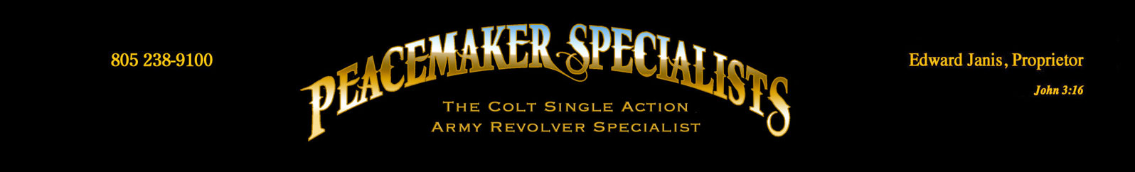 Colt Single Action Army Revolver Specialists